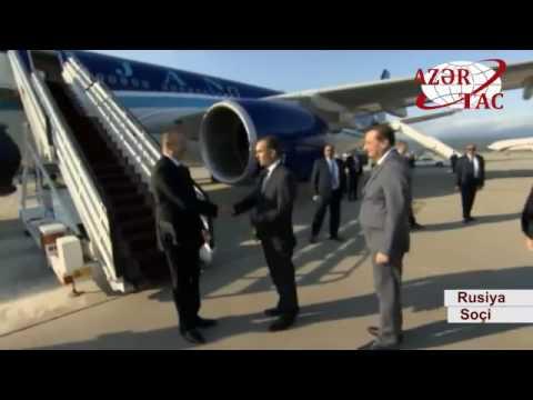 Azərbaycan Prezidenti İlham Əliyev Rusiyaya işgüzar səfərə gəlib