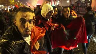 MONDIAL2018 : Maroc et Tunisie s'invitent sur les Champs Elysées. Paris/France - 11 Novembre 2017
