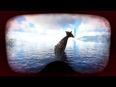 Ark Ragnarok exploring the underwater new part of the map!