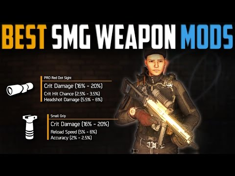The Division | Complete SMG Weapon Modding Guide