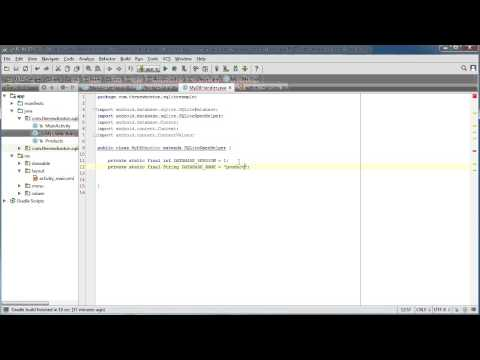 Android App Development for Beginners – 51 – Creating a New SQLite Database