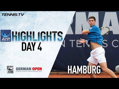Highlights: Delbonis Kohlschreiber Khachanov Win At Hamburg 2017 Thursday