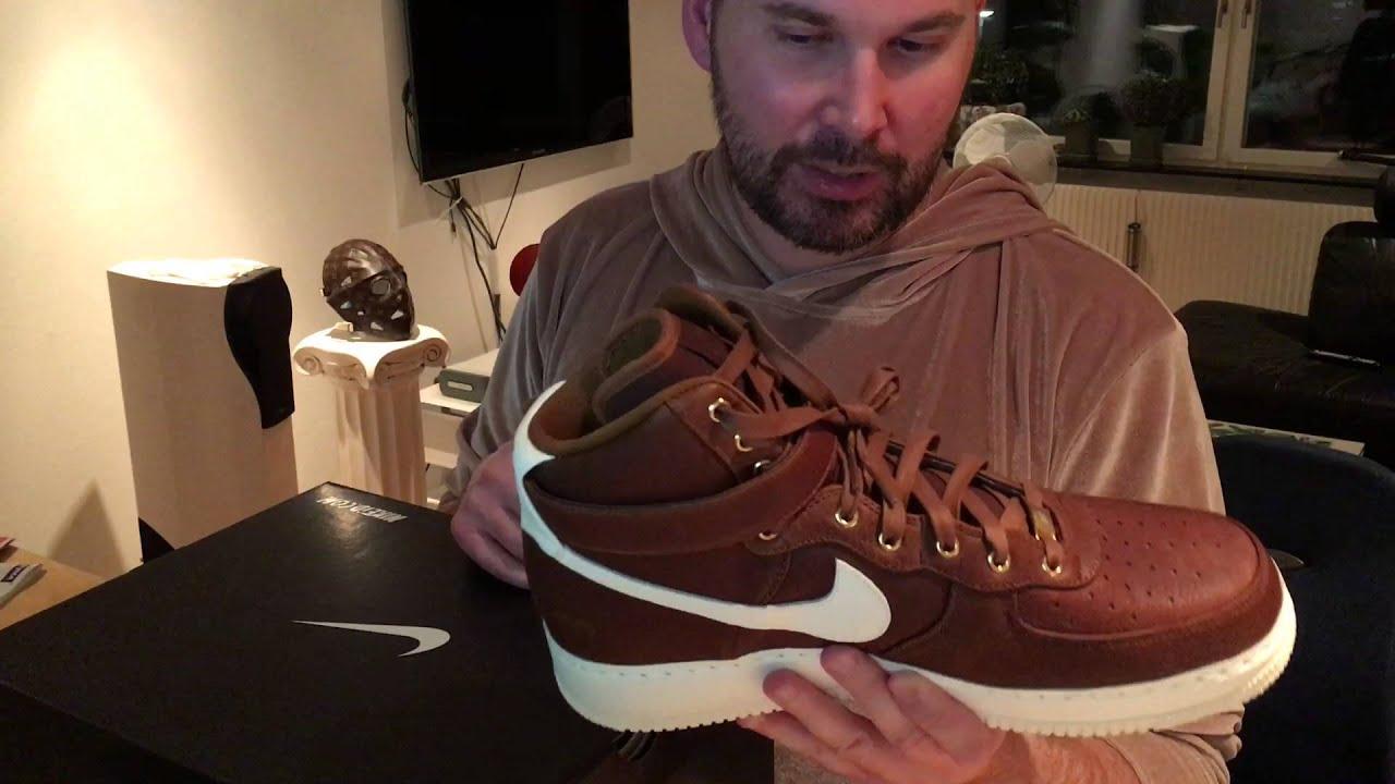 competitive price e9633 061ec Unboxig   Nike Air Force 1 High Premium Pendleton NIKEiD LT British Tan  Leather