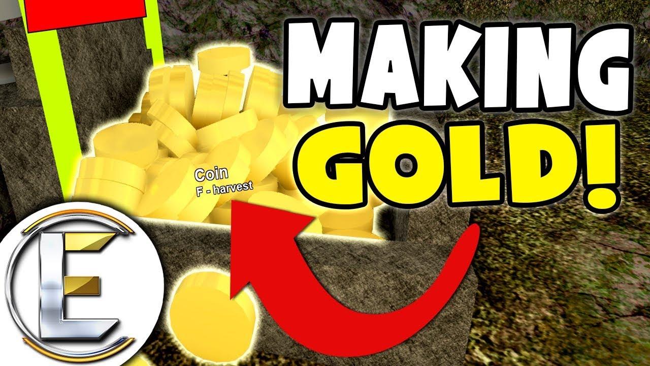 Booga Booga Roblox Jelly Mining Making Lots Of Gold Roblox Crystals Booga Booga Mining Gold Ep 3 Youtube