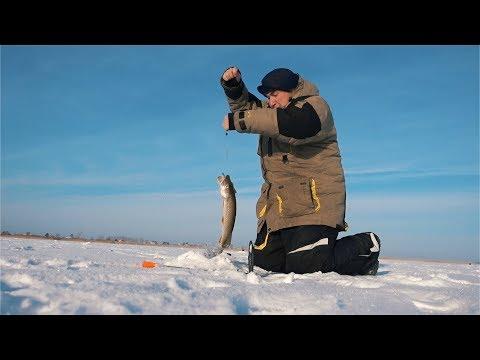 Зимняя рыбалка на щуку | Благодатное | Карасукский район