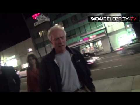 Clint Eastwood leaving Laemmle Theatres Music Hall in Beverly Hills