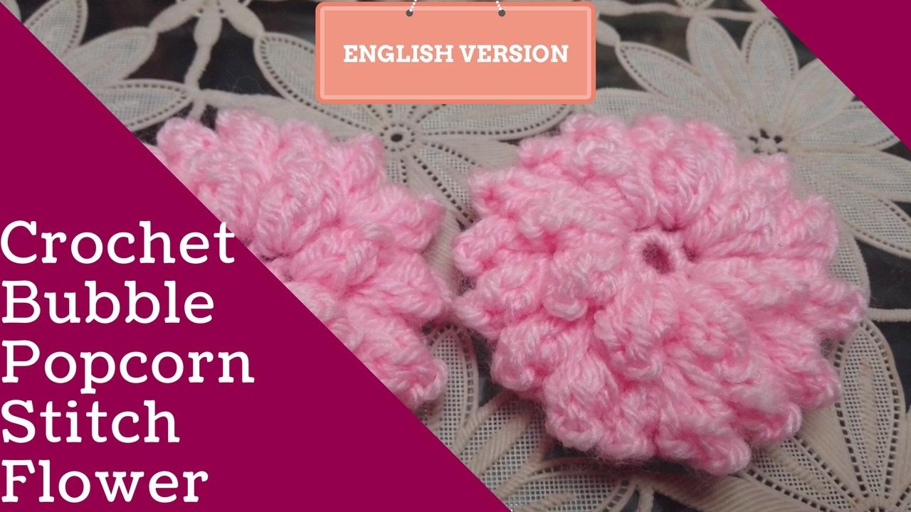 Popcorn Stitch Flower (english Version)
