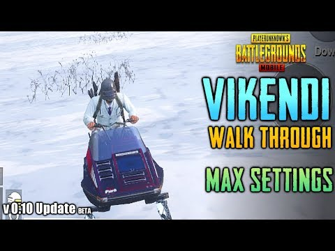 PUBG MOBILE NEW VIKENDI SNOW MAP Gameplay on HDR + ULTRA Graphics | PUBGM Update 0.10.0 BETA