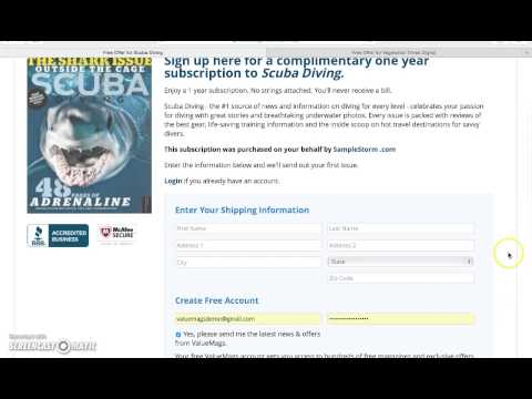 Free Magazine Alert – Scuba Diving and Vegetarian Times at ValueMags.com