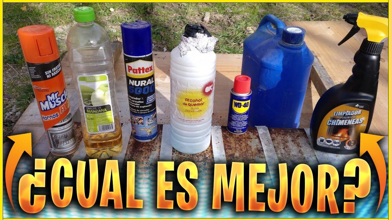 Probando Producto Para Quitar El óxido Funcionarán Wd40 Alcohol Disolvente Limpia Hornos Etc Youtube