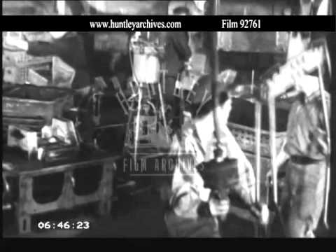 German steel production, 1950's.  Archive film 92761