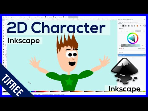 Inkscape - Draw a 2D Cartoon Character for Animation