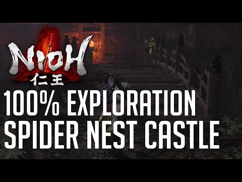 Nioh 100% Exploration Walkthrough #7 Spider Nest Castle (All Items, All Kodamas, All Secrets...)
