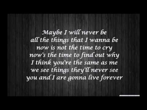 Oasis - Live Forever - Lyrics
