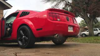 2007 v6 mustang dual exhaust cold start and revs