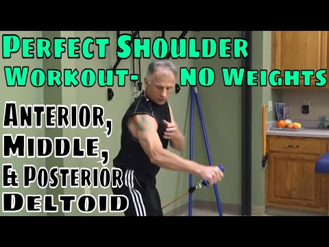 Perfect Shoulder Workout- NO Weights, Anterior, Middle, & Posterior Deltoid