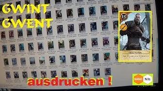WITCHER 3 - GWINT Kartenspiel / GWENT Cardgame selber ausdrucken