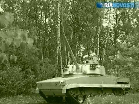 Russian russia 2S31 Vena tracked vehicle self-propelled mortar carrier RIA Novosti.flv