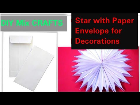 Make paper bags star for room decoration   Very easy decoration crafts   diy mix crafts