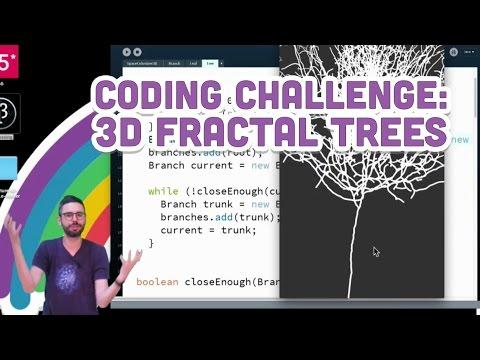 Coding Challenge #18: 3D Fractal Trees