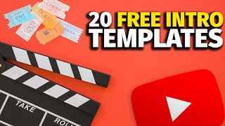 Top 20 FREE Intro Templates 3D & 2D After Effects | No Copyright Audio