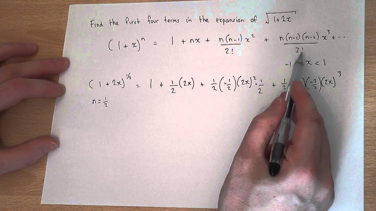 Binomial Expansion Fractional Powers