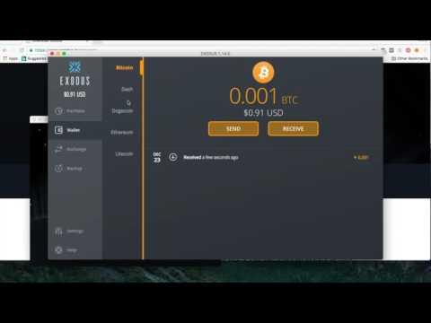 Multi-Asset Wallet Mac OS X EXODUS Supports Bitcoin Litecoin Dash Dogecoin