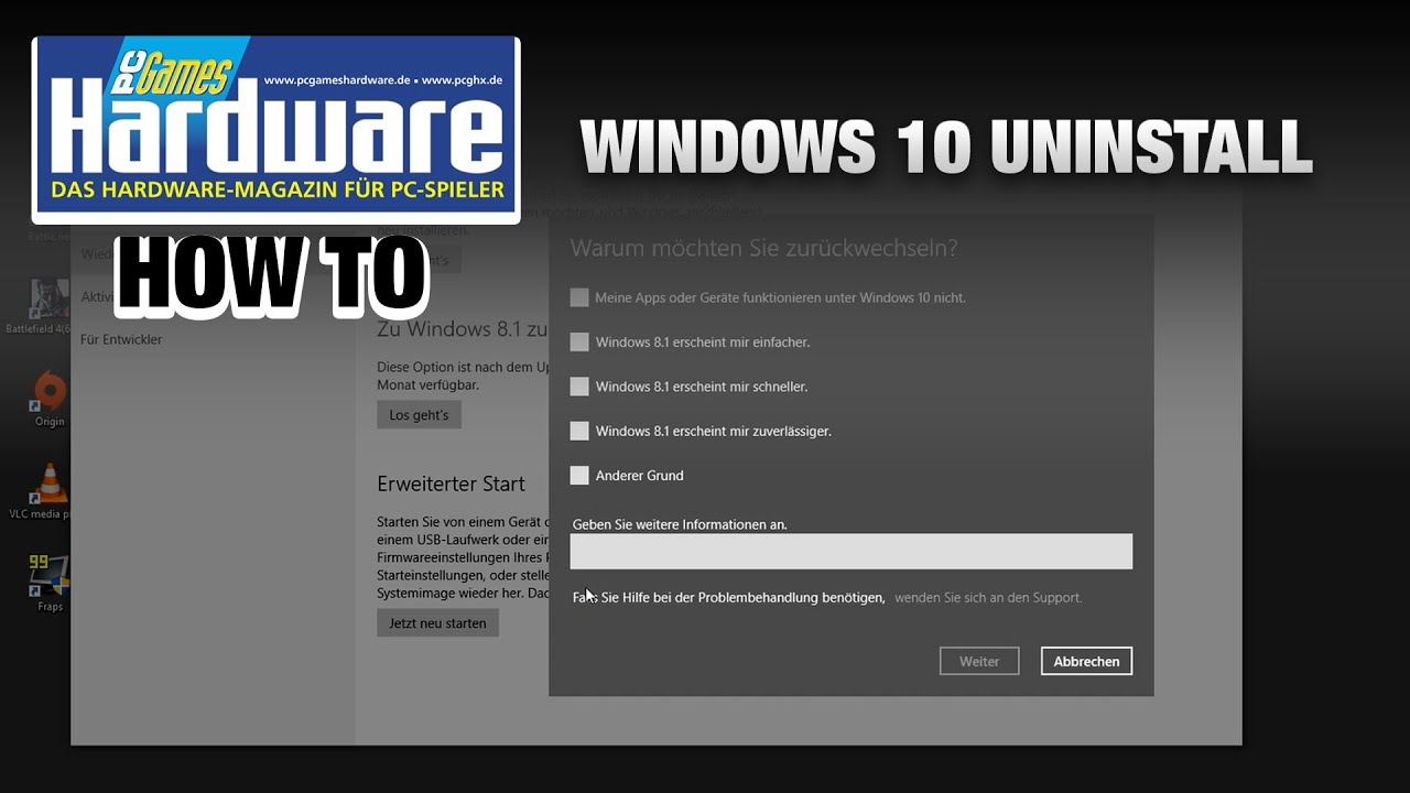 Anleitung Windows 10