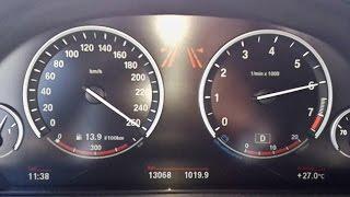 BMW X5 50i (2014) - 260 km/h Autobahn