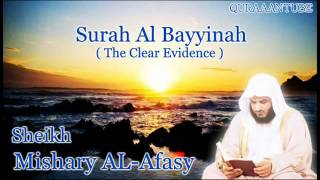 Mishary al afasy Surah Al Bayyinah  full  with audio english translation
