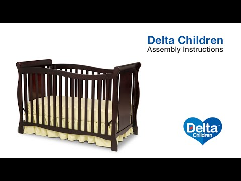Delta Children Brookside 4-in-1 Crib Assembly Video