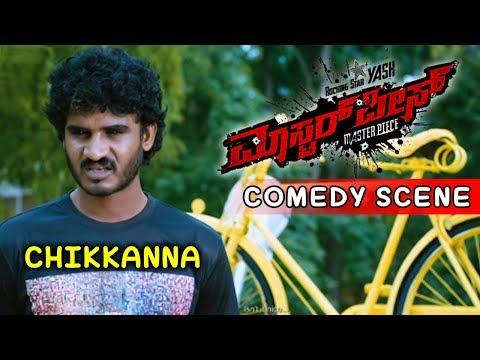 Chikkanna Comedy Scenes   Chikkanna As College Leader Comedy Scenes   Masterpiece Kannada Movie