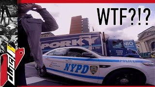 WTF?!? NYPD COP PULLS OVER BIKE FOR GOPRO