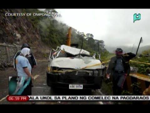 News@6: 2 katao, nasawi sa landslide sa Kennon Road sa Baguio City || July 13, 2015