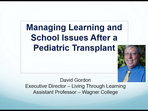 Managing Learning and School Issues after a Pediatric Transplant