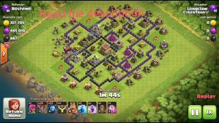 CLASH OF CLANS : Th8 Zapquake Loonion Raid : Electric Minion Event