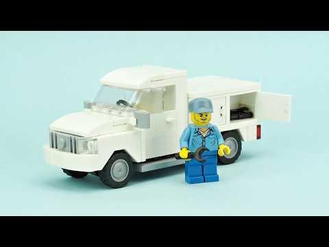 Utility Truck Lego Moc
