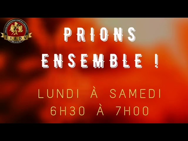 Prions ensemble - 19/04/21 - Pst. O. Sarr