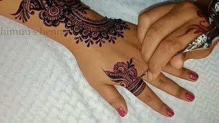 Latest Mehndi Design for Upper Hand - Shimmi