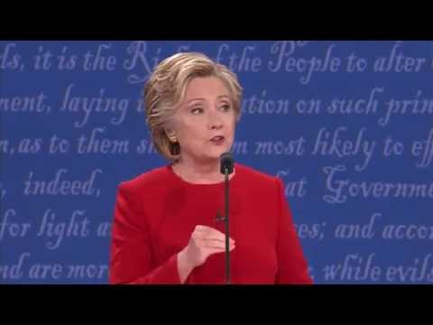 "Clinton: ""Donald thinks that climate change is a hoax"""