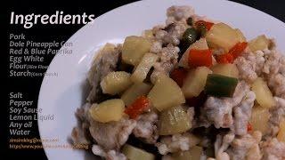 파인애플 탕수육 Pineapple Pork 레시피 Recipe