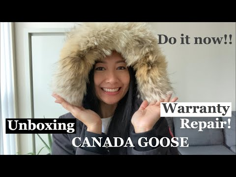 UNBOXING CANADA GOOSE WARRANTY REPAIR