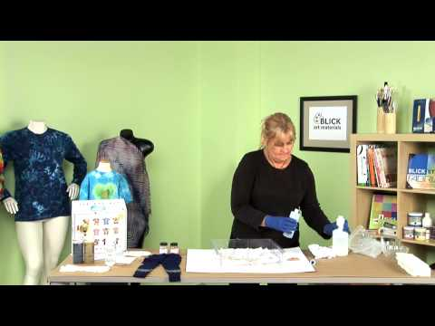 Tie Dyeing with Jacquard Procion Dye
