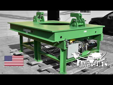 Crucible Tilt Table - 20,000 Pound Capacity | Lange Lift Serial #33233