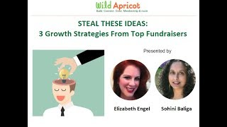 Wild Apricot Expert Webinar: Steal These Ideas - 3 Growth Strategies from Top Fundraisers