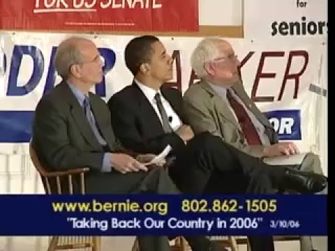 Barack Obama Campaigns for Bernie Sanders in 2006