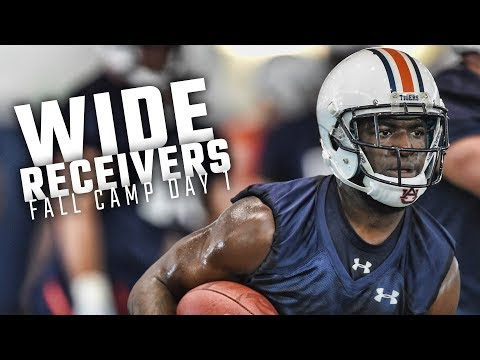 Nate Craig-Myers And The Auburn Receivers Hit The Field For Day 1 Of Fall Practice