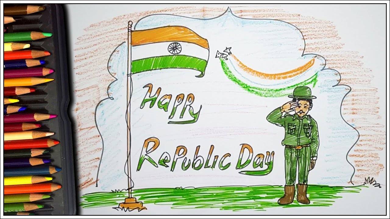 Republic Day Drawing for Kids   गणतंत्र दिवस 2019   Easy ...