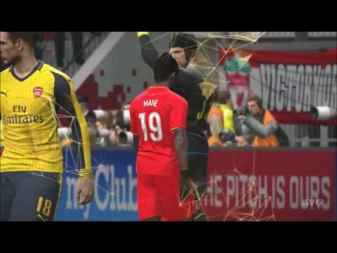 PES 2017 - Liverpool FC vs Arsenal FC - Gameplay [PC HD]