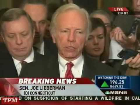 Joe Lieberman Gets Slap on The Wrist
